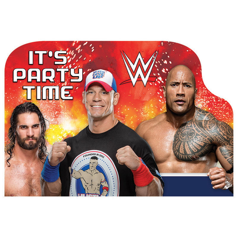Wwe Invitations (8 Pack) BB490136
