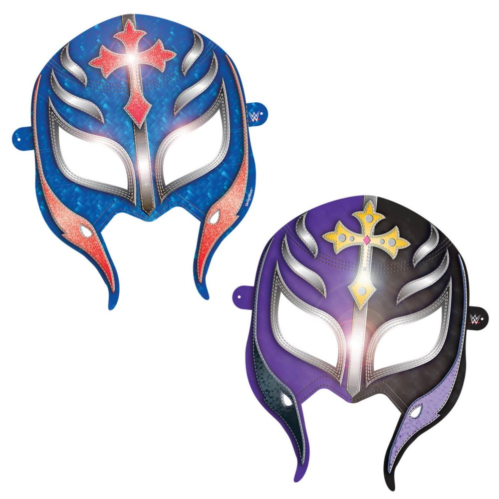 "WWE Paper 6"" Party Supplies Masks (8 Pack) BB250415"