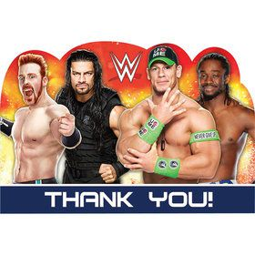 WWE Party Thank You Notes (8)