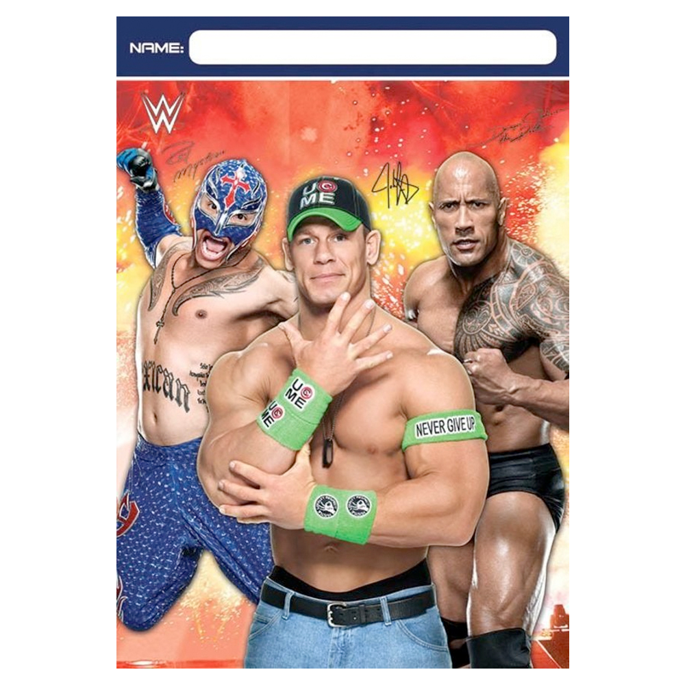 WWE Plastic Loot Favor Bags (8 Pack) - Party Supplies BB371467