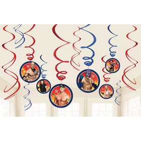WWE Swirl Hanging Decorations (12 Pack)
