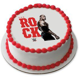 """WWE The Rock 7.5"""" Round Edible Cake Topper (Each)"""