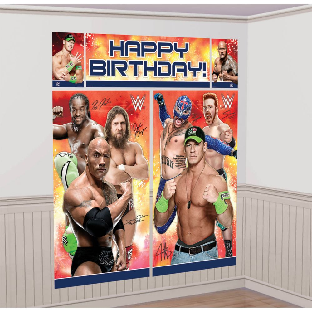 WWE Wall Decorating Kit (Each) - Party Supplies BB670429