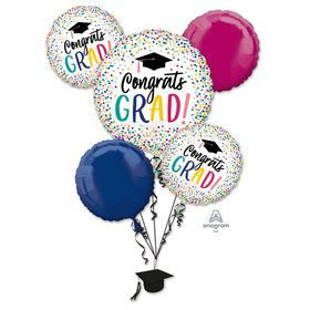 Yay Grad Foil Balloon Bouquet