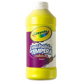 Yellow 16 oz washable tempera paint plastic squeeze bottle