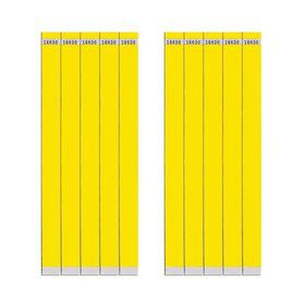 "Yellow 3/4"" Paper Wristbands (100 Count)"