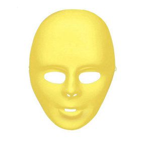Yellow Adult Face Mask