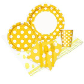 Yellow and White Dots Party Pack