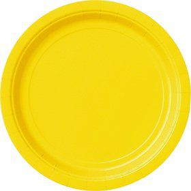 Yellow Cake Plates (20 Count)