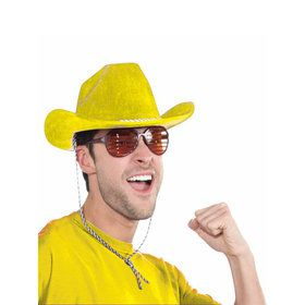 Yellow Deluxe Cowboy Hat