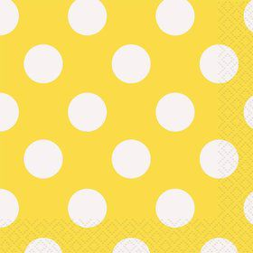 Yellow Dots Beverage Napkins (16 Count)