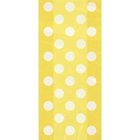 Yellow Dots Cello Favor Bags (20 Pack)