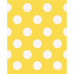 Yellow Dots Loot Bags (8 Count)