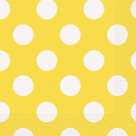 Yellow Dots Luncheon Napkins (16 Count)