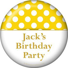 Yellow Dots Personalized Button (Each)