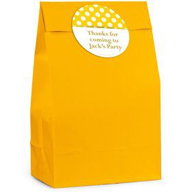 Yellow Dots Personalized Favor Bag (12 Pack)