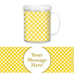Yellow Dots Personalized Favor Mugs (Each)