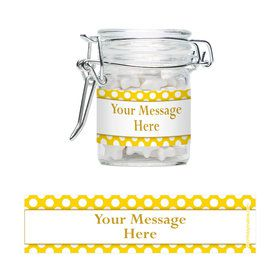 Yellow Dots Personalized Glass Apothecary Jars (12 Count)