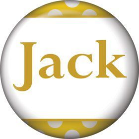 Yellow Dots Personalized Mini Button (Each)