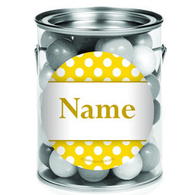 Yellow Dots Personalized Mini Paint Cans (12 Count)
