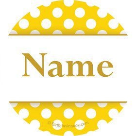 Yellow Dots Personalized Mini Stickers (Sheet of 20)