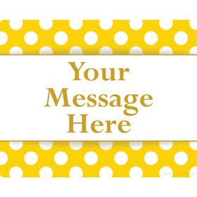 Yellow Dots Personalized Rectangular Stickers (Sheet of 15)