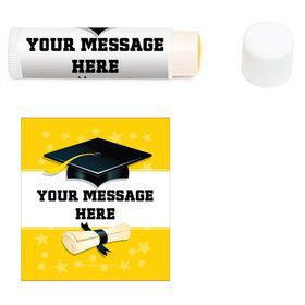 Yellow Grad Personalized Lip Balm (12 Pack)