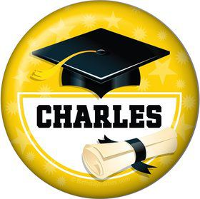 Yellow Grad Personalized Magnet (Each)