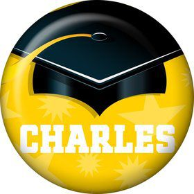 Yellow Grad Personalized Mini Magnet (Each)