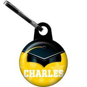 Yellow Grad Personalized Zipper Pull (Each)