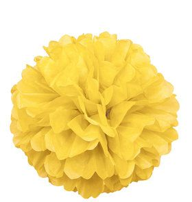 Yellow Hanging Puff Ball