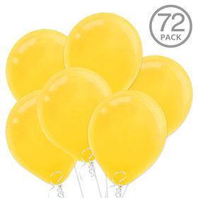 Yellow Latex Balloons (72 Count)