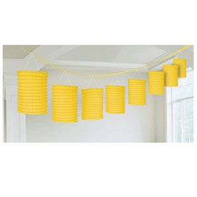 Yellow Paper Lantern Garland