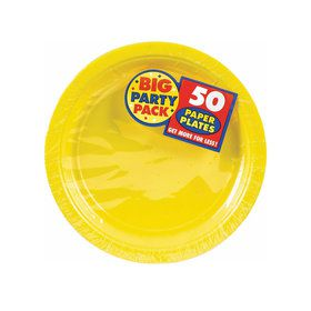 Yellow Sunshine Big Party Pack Dessert Plates