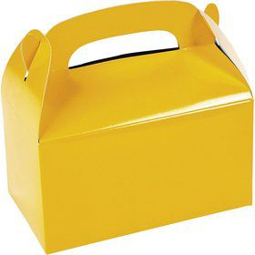 Yellow Treat Favor Boxes (6 Pack)