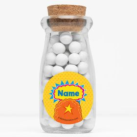"Yo Yo Dance Party Personalized 4"" Glass Milk Jars (Set of 12)"
