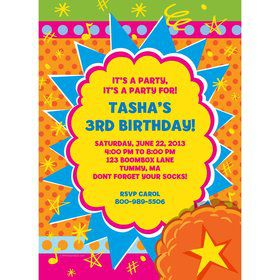 Yo Yo Dance Party Personalized Invitation (Each)