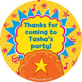 Yo Yo Dance Party Personalized Stickers (Sheet Of 12)