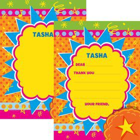 Yo Yo Dance Party Personalized Thank You Note (Each)