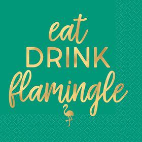 You had me at Aloha Eat, Drink, Flamingle Beverage Napkins