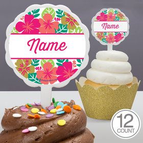 You Had Me At Aloha Personalized Cupcake Picks (12 Count)