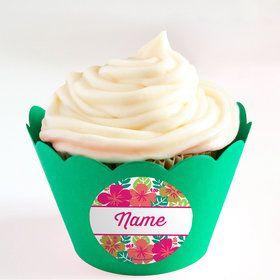 You Had Me At Aloha Personalized Cupcake Wrappers (Set of 24)