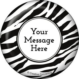 Zebra Animal Print Personalized Button (Each)