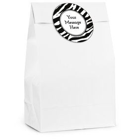 Zebra Animal Print Personalized Favor Bag (12 Pack)