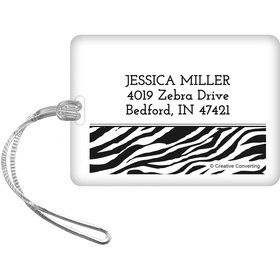Zebra Animal Print Personalized Luggage Tag (Each)
