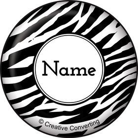 Zebra Animal Print Personalized Mini Button (Each)