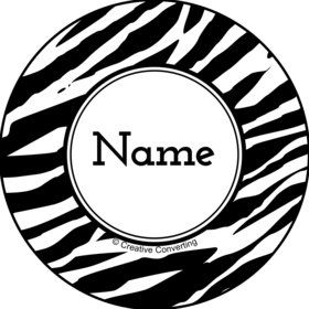 Zebra Animal Print Personalized Mini Stickers (Sheet of 24)