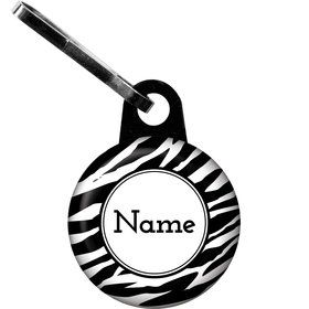 Zebra Animal Print Personalized Zipper Pull (Each)