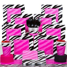 Zebra Birthday Party Deluxe Tableware Kit