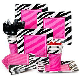 Zebra Birthday Party Standard Tableware Kit